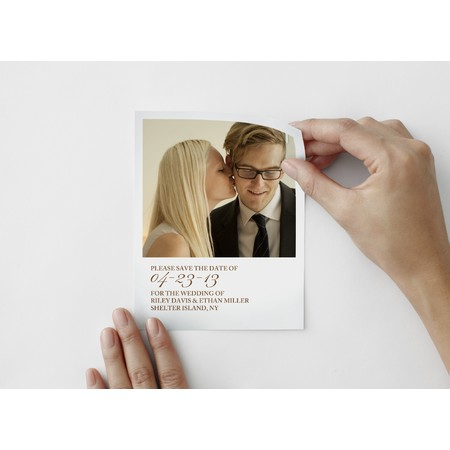 Tailored Script Save The Date Photo Decal