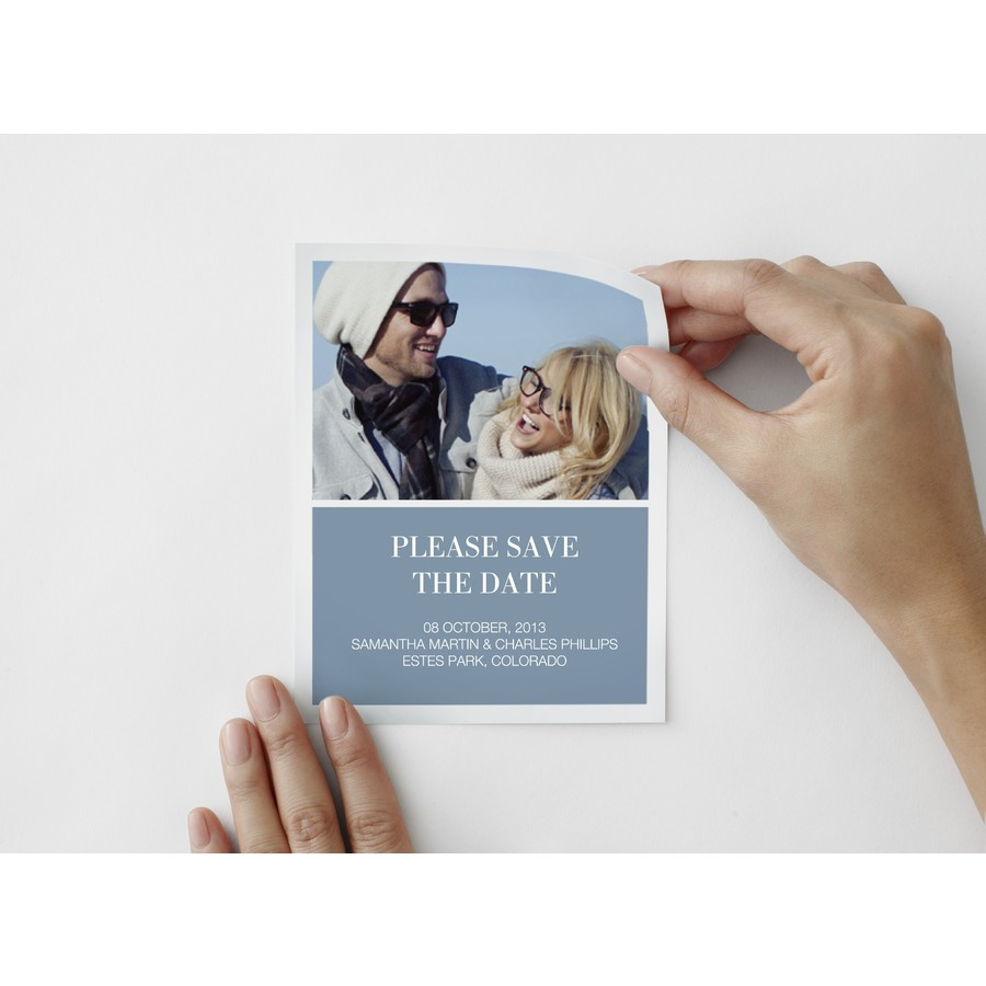 Timeless Save The Date Photo Decal