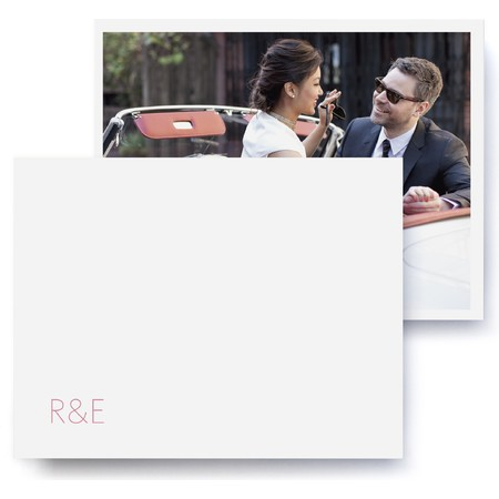Modern Monogram Wedding Thank You Cards