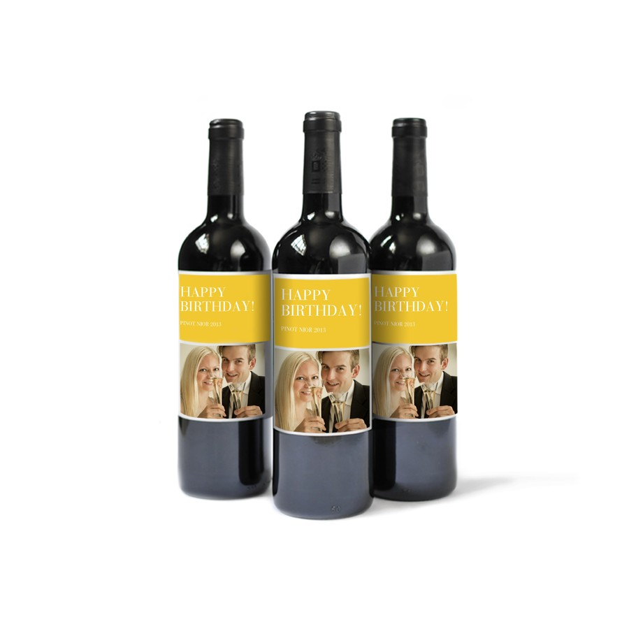 Custom Wine Bottle Labels for Birthdays