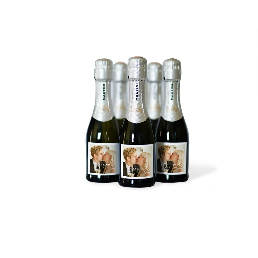 Custom Mini Champagne Bottle Labels