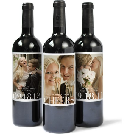 Custom Wine Labels with 9 Unique Photos