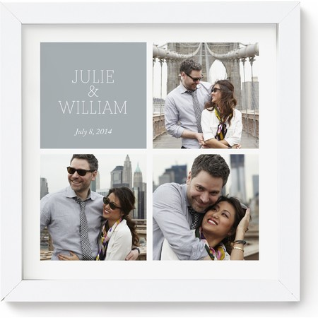 10X10 Framed Photo Collage with Text