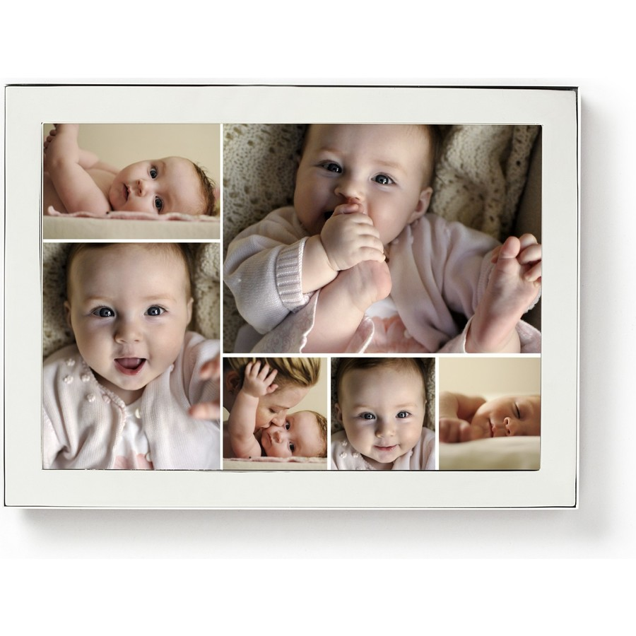 5X7 Silver Horizontal Framed Photo Collage