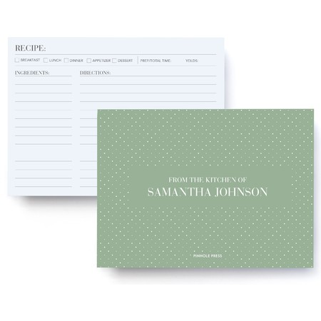 Personalized Recipe Cards And Box