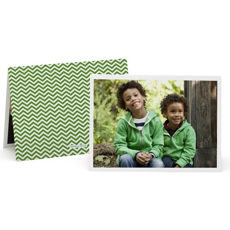 Herringbone Folded Photo Card   Happy Holidays Envelopes