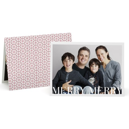 Honeycomb Folded Photo Card   Happy Holidays Envelopes