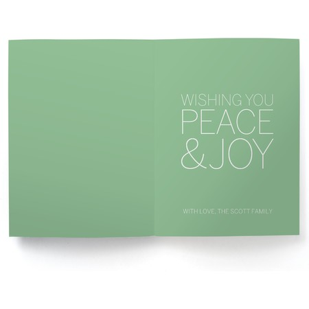 Joy & Peace   Happy Holidays Envelopes