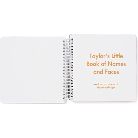 Custom Board Book of Names & Faces