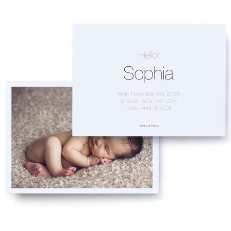 Minimalist Chic Birth Announcement