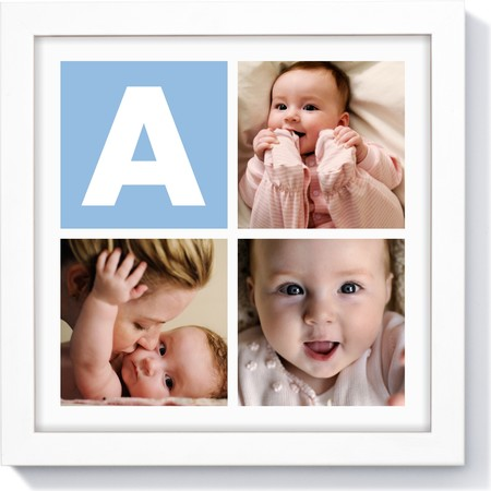 10X10 Framed Photo Collage with Monogram