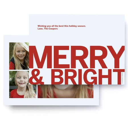 Bold, Merry and Bright Photo Card
