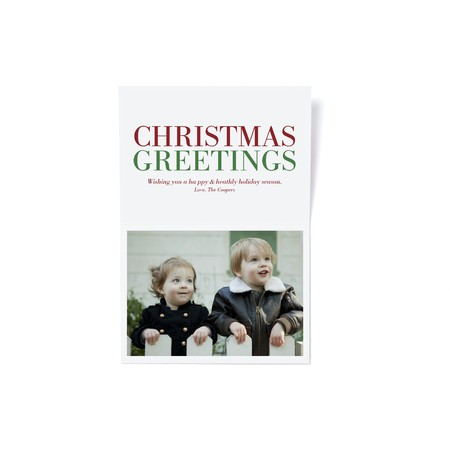 Christmas Greetings Holiday Photo Card