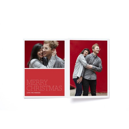 Merry Christmas Marquee Holiday Photo Card