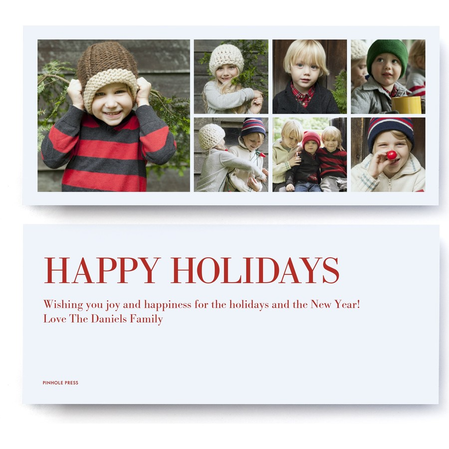Happy Holidays Instagram Letter Photo Card