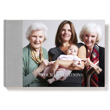 Landscape Layflat Photo Book with Classic Font