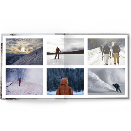 Square Layflat Photo Book with Classic Font