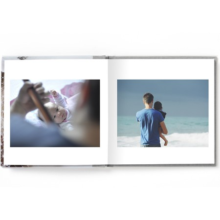 Square Layflat Photo Book with Modern Font