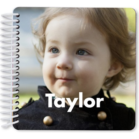 Custom Board Book of Names and Faces - Cover