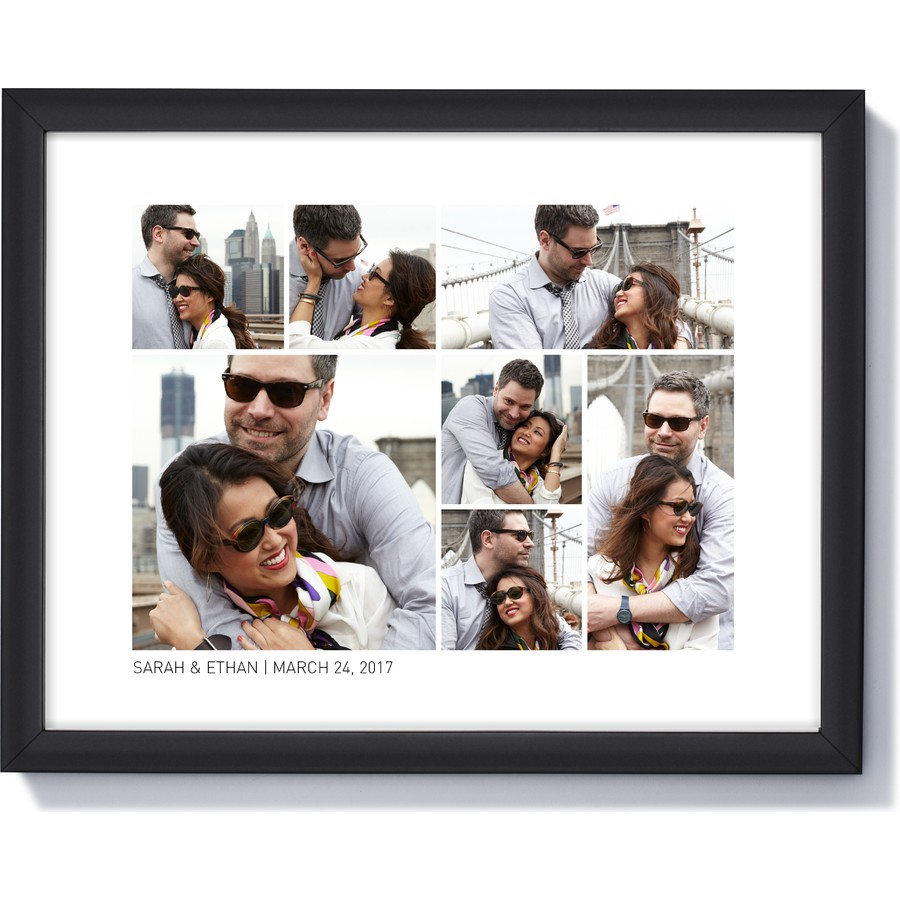 14 x 11 Framed Photo Collage