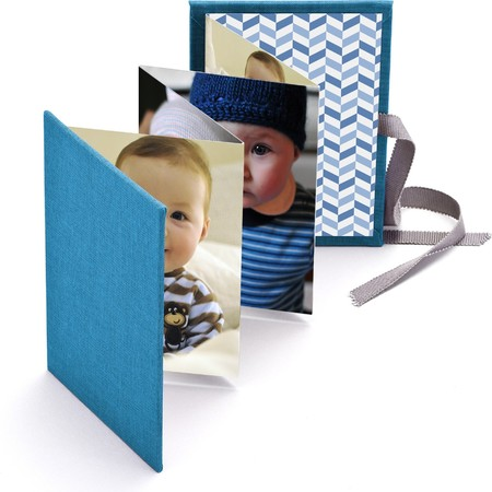 Brag Book with Blue Fabric