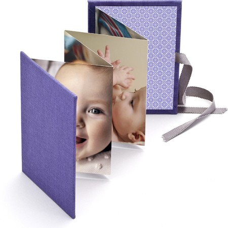 Baby Brag Book with Periwinkle Fabric