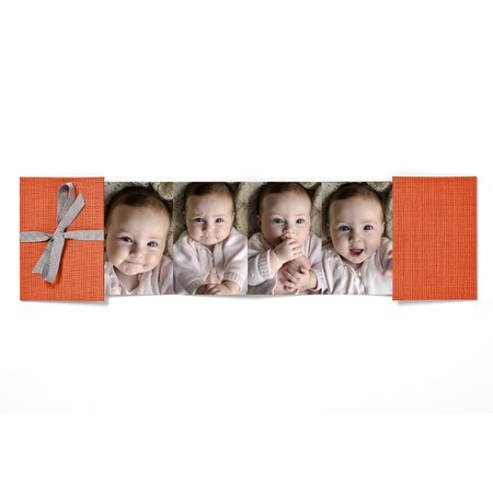Baby Brag Book with Orange Fabric