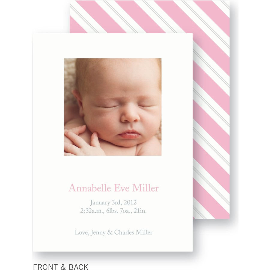Pink Blanket Birth Announcement