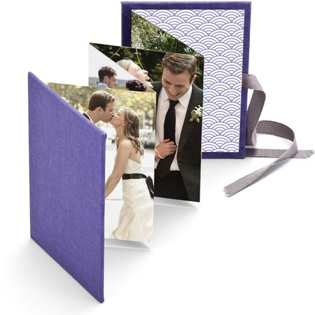 Wedding Brag Book with Periwinkle Fabric