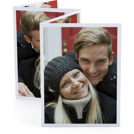Red Accordion Photo Card