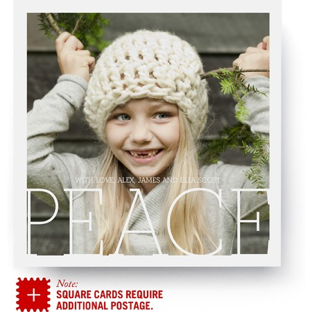 Peace Square Holiday Card