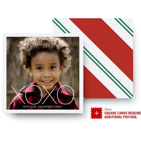 Candy Cane Stripe Holiday Card