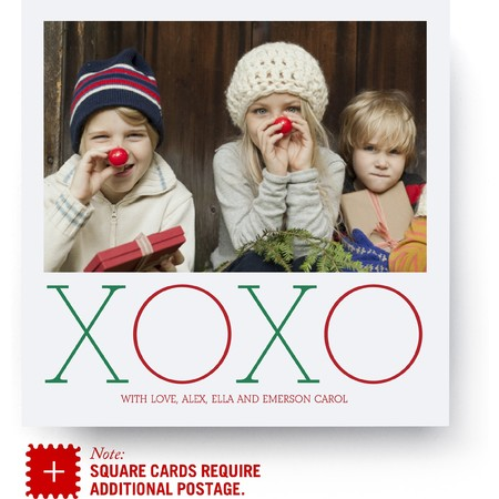 XOXO Holiday Photo Card