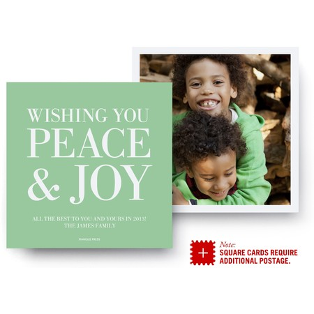 Peace and Joy Square Photo Card