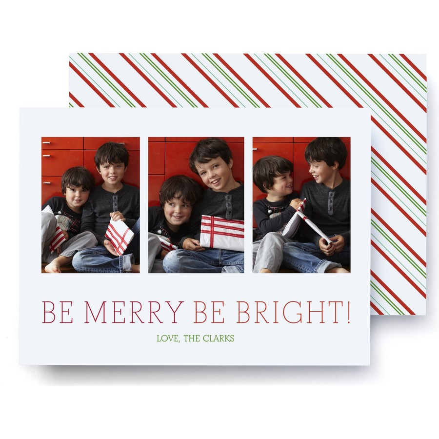 Be Merry, Be Bright! Holiday Photo Card