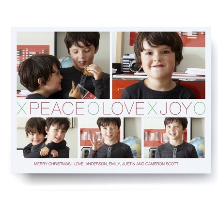 Peace Love Joy XOXO Photo Card