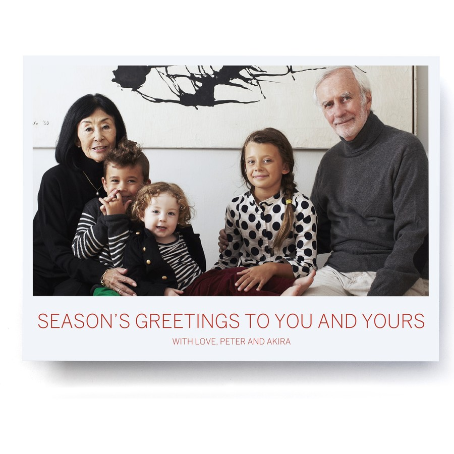 Classic Polaroid Happy Holidays Photo Card