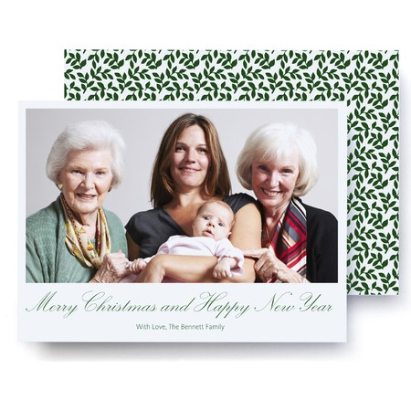 Green Vines Holiday Photo Card
