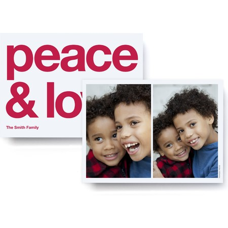Peace & Love Bold Photo Card