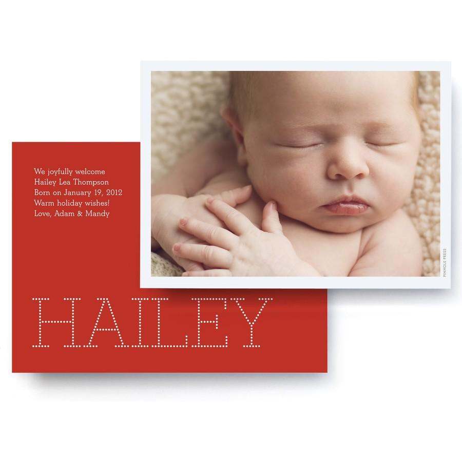 Red Swiss Dot Holiday Photo Card