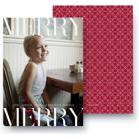 Merry Merry Holiday Photo Card