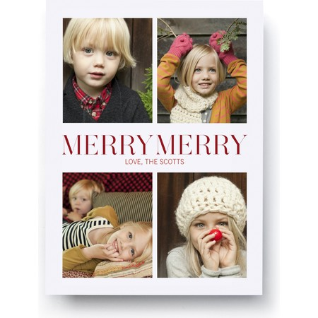 Merry Merry Classic Photo Card