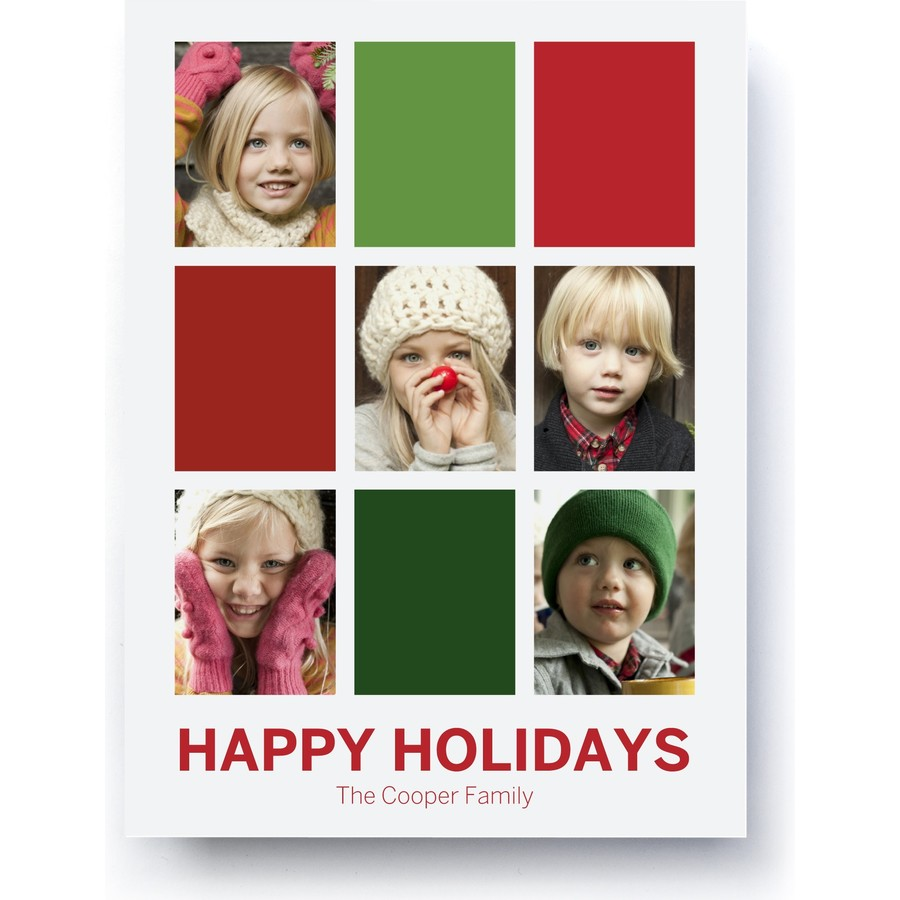 Graphic Blocks Holiday Photo Card