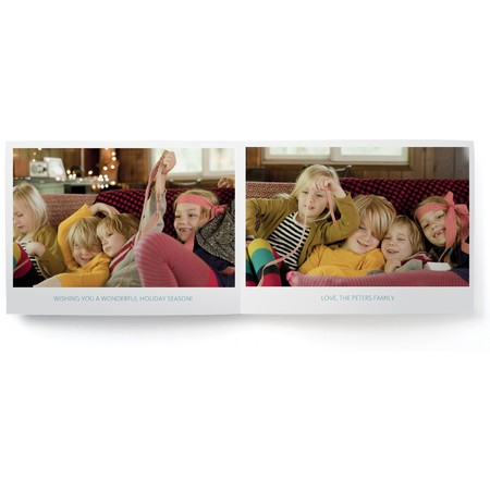 Warmest Wishes Folded Photo Card