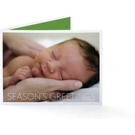 Season's Greetings Folded Holiday Card