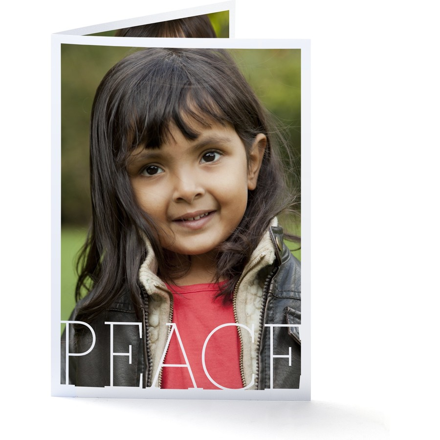 Peace Portrait Holiday Card