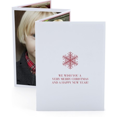Snowflake Red Accordion Card