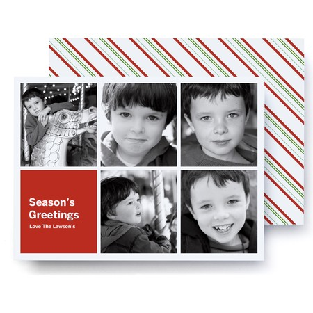 Season's Greetings Photo Card   Ultrathick