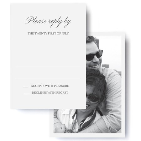 Black Tie Wedding RSVP
