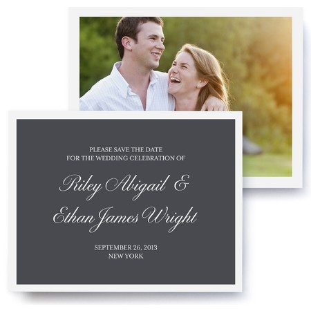 Black Tie Photo Save The Date Cards